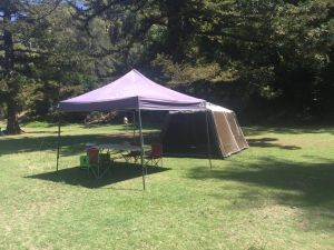 Basin Ku-ring-gai Campsite Set Up - Hervey Bay Accommodation